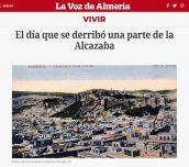 El día que se derribó una parte de la Alcazaba