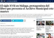 El siglo XVII en Málaga, protagonista del libro que presenta el Archivo Municipal este martes