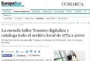 Escuela taller Tesauro digitaliza