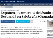 Exponen documentos del exodo
