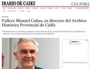 Fallece Manuel Cañas, ex director del Archivo Histórico Provincial de Cádiz