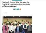 Finaliza la Escuela Taller Campiña Sur CualificA, centrada en digitalización de archivos municipales