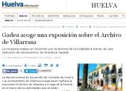 Gadea acoge una exposición sobre el Archivo de Villarrasa