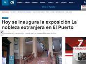 Hoy se inaugura la exposición La nobleza extranjera en El Puerto