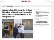 Inaugurada la Biblioteca del Archivo Municipal e Histórico de Protocolos Notariales con el nombre de Carlos Asenjo Sedano