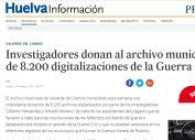 Investigadores donan al archivo municipal más de 8.200 digitalizaciones de la Guerra Civil