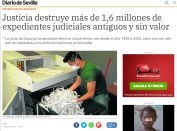 Justicia destruye documentos - agosto 2019