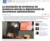 La Asociación de Archiveros de Andalucía aborda la digitalización de documentos administrativos