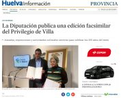 La Diputación publica una edición facsimilar del Privilegio de Villa