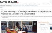 La Junta entrega la Real Ejecutoria del Marqués de los Álamos del Guadalete a Villamartín
