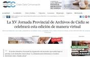 La XV Jornada Provincial de Archivos de Cádiz se celebrará esta edición de manera virtual