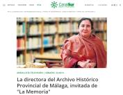 La directora del Archivo Histórico Provincial de Málaga, invitada de La Memoria