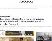La documentación histórica de la minería cordobesa estará al alcance de todos en el Archivo Provincial