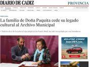 La familia de Doña Paquita cede su legado cultural al Archivo Municipal