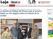 La familia de Rafael del Rosal cede al archivo lojeño su rico legado sobre la historia de la ciudad