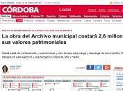 La obra del Archivo municipal costará 2,6 millones y recuperará sus valores patrimoniales