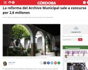 La reforma del Archivo Municipal sale a concurso por 2,6 millones
