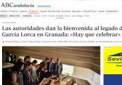 Las autoridades dan la bienvenida al legado de Federico García Lorca en Granada - Hay que celebrar