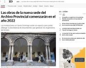 Las obras de la nueva sede del Archivo Provincial comenzarán en el año 2022