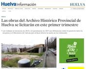 Las obras del Archivo Histórico Provincial de Huelva se licitarán en este primer trimestre