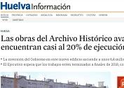 Las obras del Archivo Histórico avanzan y se encuentran casi al 20% de ejecución