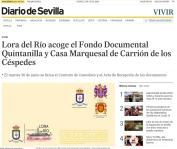 Lora del Río acoge el Fondo Documental Quintanilla y Casa Marquesal de Carrión de los Céspedes