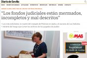 Los fondos judiciales están mermados, incompletos y mal descritos