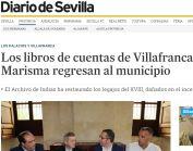 Los libros de cuentas de Villafranca de la Marisma regresan al municipio