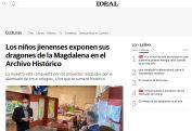 Los niños jienenses exponen sus dragones de la Magdalena en el Archivo Histórico