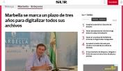 Marbella se marca un plazo de tres años para digitalizar todos sus archivos