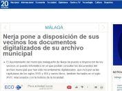 Nerja pone a disposición de sus vecinos los documentos digitalizados de su archivo municipal