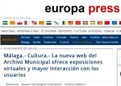 Nueva web Archivo Municipal Málaga