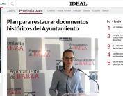 Plan para restaurar documentos históricos del Ayuntamiento