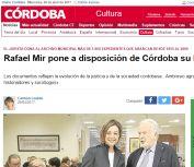 Rafael Mir pone a disposición de Córdoba su legado profesional