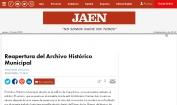Reapertura del Archivo Histórico Municipal Jaén