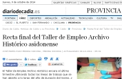 Recta final del Taller de Empleo Archivo Histórico asidonense