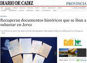 Recuperan documentos históricos que se iban a subastar en Jerez
