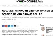Rescatan un documento de 1573 en el Archivo de Almodóvar del Río