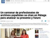 Un centenar de profesionales de archivos españoles se citan en Málaga para analizar su presente y futuro