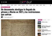 Un documento atestigua la llegada de gitanos a Morón en 1621