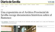 Una exposición en el Archivo Provincial de Sevilla recoge documentos históricos sobre el flamenco