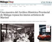 Una muestra del Archivo Histórico Provincial de Málaga repasa los inicios artísticos de Marisol