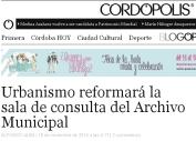 Urbanismo reformará la sala de consulta del Archivo Municipal - Cordópolis
