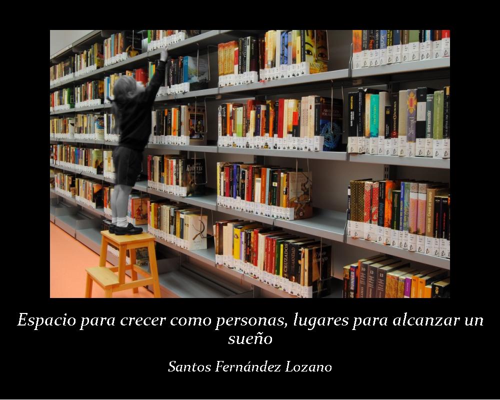 Espacios para crecer como personas, lugares para alcanzar un sueño; Santos Fernández Lozano. Biblioteca Pública Municipal Miguel Delibes, Montequinto - Sevilla (jpg 428 kb)