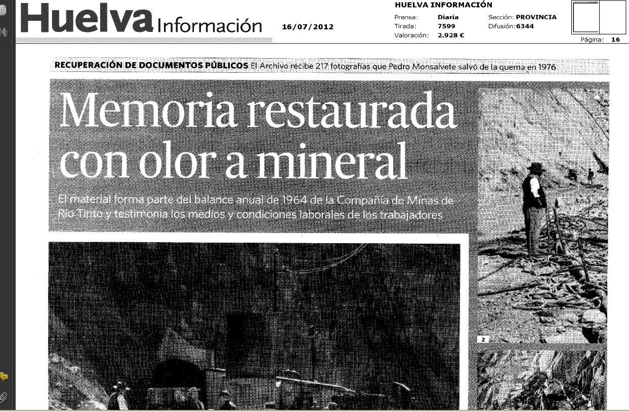 Memoria con olor a mineral