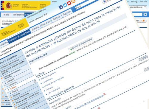 715a5c8c Ayudas a entidades privadas sin ánimo de lucro para la mejora de las  instalaciones y el equipamiento de sus archivos.