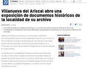 Villanueva del Ariscal abre una exposición de documentos históricos de la localidad de su archivo