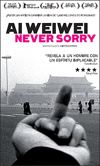 Cartel de la pelñícula 'Ai Weiwei: Never Sorry', de Alison Klayman