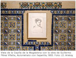 Guillermo Pérez Villalta. Autorretrato con hepatitis, 1983. Dibujo sobre papel, 35 x 24 cm. Salas CAAC, 2013. Foto: LD. Aristoy
