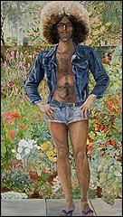 SYLVIA SLEIGH. Anunciación: Paul Rosano, 1975. Óleo sobre lienzo. 228,6 x 132 cm. Jeff and Leslie Fischer Collection, Nueva York